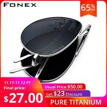 FONEX gafas de sol polarizadas de titanio para hombre, anteojos de sol unisex, estilo Aviador clásico, plegable, de alta calidad, 838