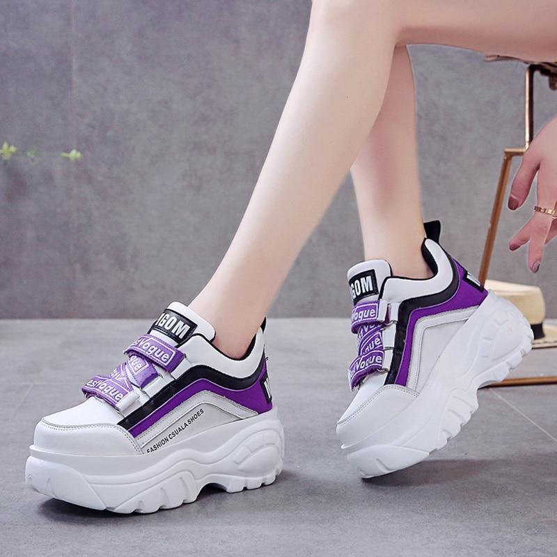 Chunky Sneakers Women Shoes 2020 Women Vulcanize Shoes Platform Sneakers Women Casual Shoes Leather Dad Shoes кроссовки женские
