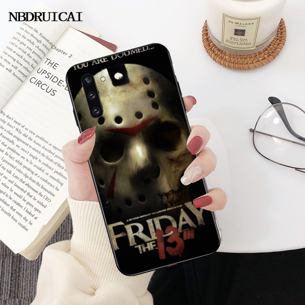 NBDRUICAI Jason Vorhees Friday the 13th mask DIY Printing Phone Case cover Shell for Samsung Note 3 4 5 7 8 9 10 pro M10 20 30