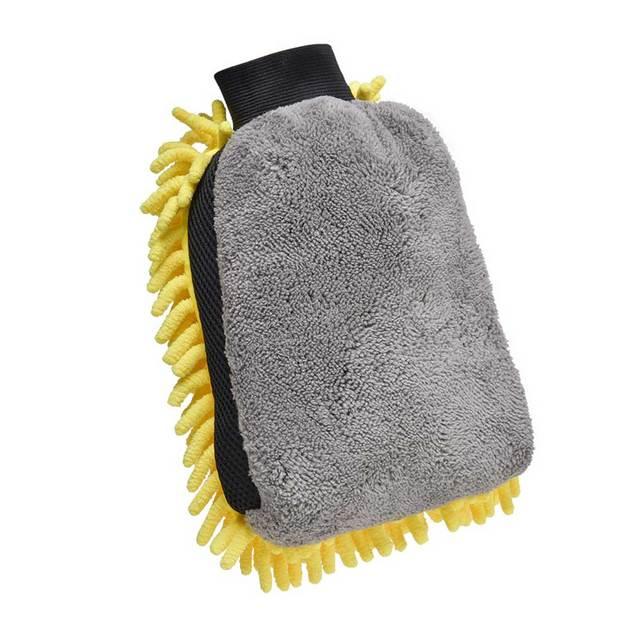 Soft Multifunction Mircofiber Car Wash Glove Car Wax detailing Polishing Towel Thick Cleaning Wash Brush Car  Drying  Gloves 3