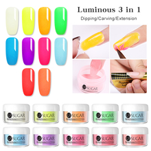 UR SUGAR 5ml Luminous 3 IN 1 Dip Nail Powder Acrylic Carving Extension Glitter Glow In Dark Dust Nails Decorations