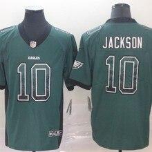 Все сшитые мужские Джерси Philadelphia DeSean Jackson#10 eagles