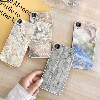 Marble 1 Silicon Soft TPU Case Cover For HTC Desire One X9 M9 M10 U11 630 650 820 825 828 830 10 12 Plus Pro Evo image