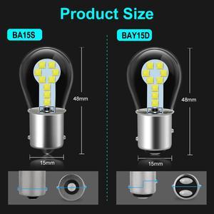 Image 5 - 1pcs P21W Led Bulb 1157 P21/5W BAY15D Led 1156 BA15S Lamp 18SMD 3030 Chips Super Bright Auto Light Source Reverse Bulb 12V