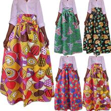 Women African fashion Multicolored National dashiki Totem Printed Half-length long skirt for adult  JQ-10015