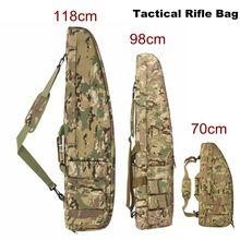 118 centímetros 98CM de Alta Densidade Nylon Rifle Caso Saco Militar Tático Saco Acessórios saco de Arma Rifle de Caça Airsoft Coldre mochila