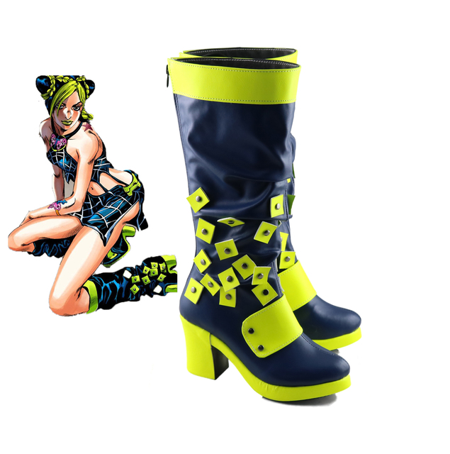 New  JoJo's Bizarre Adventure Jolyne Cujoh Kujo Cosplay boots Anime Shoes customized 4