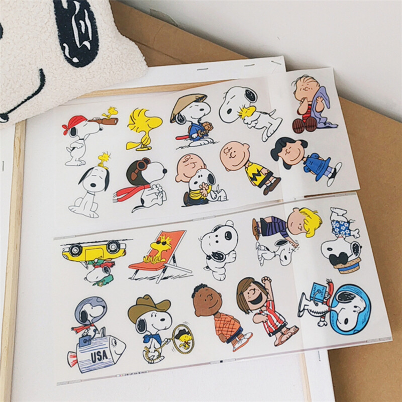 Cheng pin 1Pc Lovely Snoopys Waterproof Oil Proof stationery decorative Sticker Hand Account Notebook Computer Creative