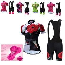 TELEYI Pro Women Cycling Set MTB Bike Clothing Women Racing Bicycle Clothes Ropa Ciclismo Cycling Wear Cycling Jersey Set