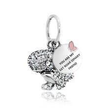 2019 New Arrival 925 Sterling Silver Beads Pave Dinosaur Pendant Charms fit Original Pandora Bracelets Women DIY Jewelry new arrival 100% new beads sparkling pave charms cz fit original pandora bracelets women diy jewelry