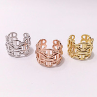 Fashion ring personality classic pop style alloy pig nose hollow shape jewelry to send gifts for lovers 2019 new hot