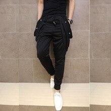 Pantalones bombachos de estilo hip hop para hombre, pantalón holgado, con entrepierna y elástico, para escenario