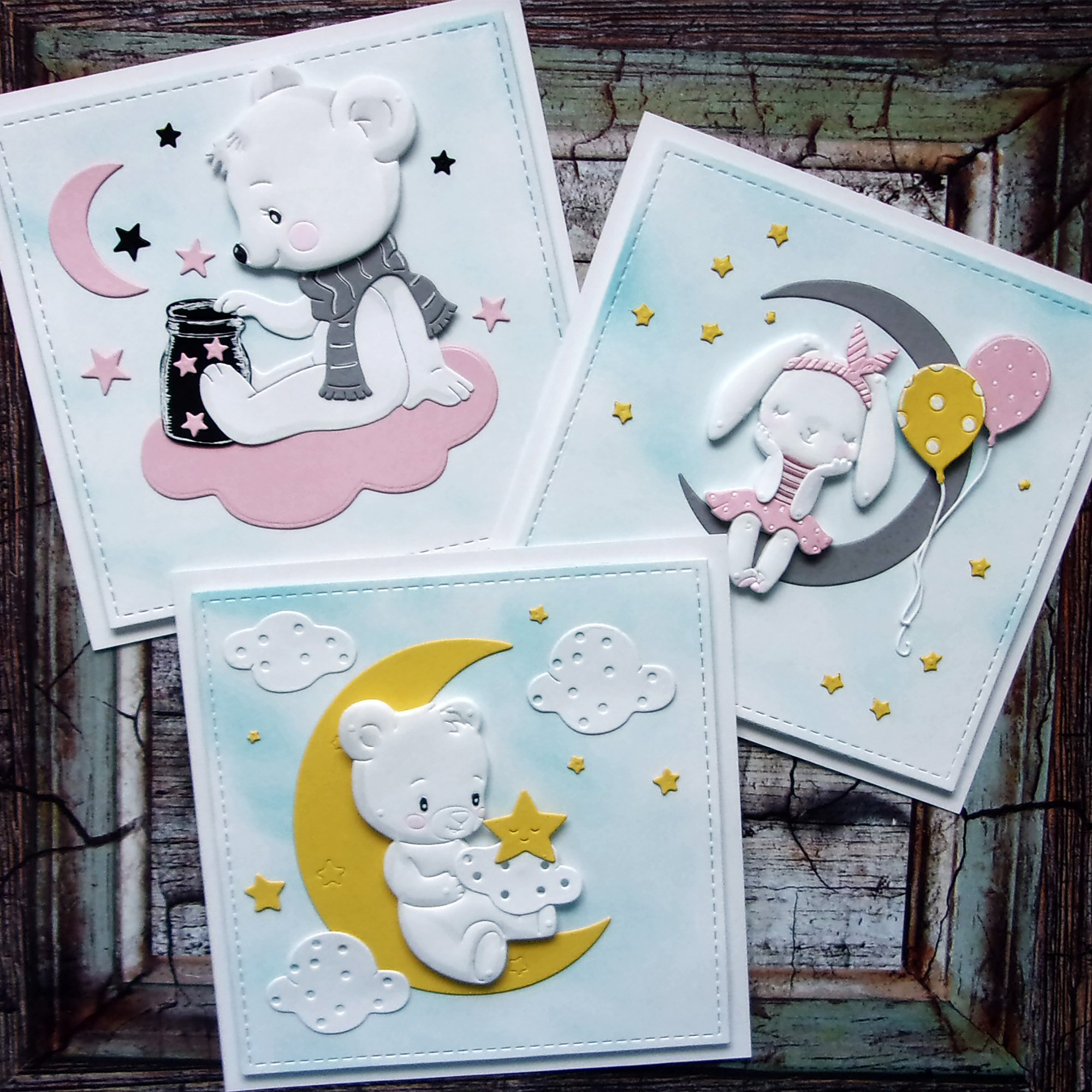 Animal Doll Dies Moon Star Rabbit Girl Metal Cutting Dies Scrapbooking For DIY Embossing Cuts Craft Die Baby Balloon Dies