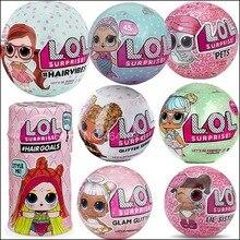 Пикантные блестящие серии Bling Lil сестер глаз LOLS сюрприз LOLS куклы в секрете цели волос L.O.L конфетти поп серии домашних животных