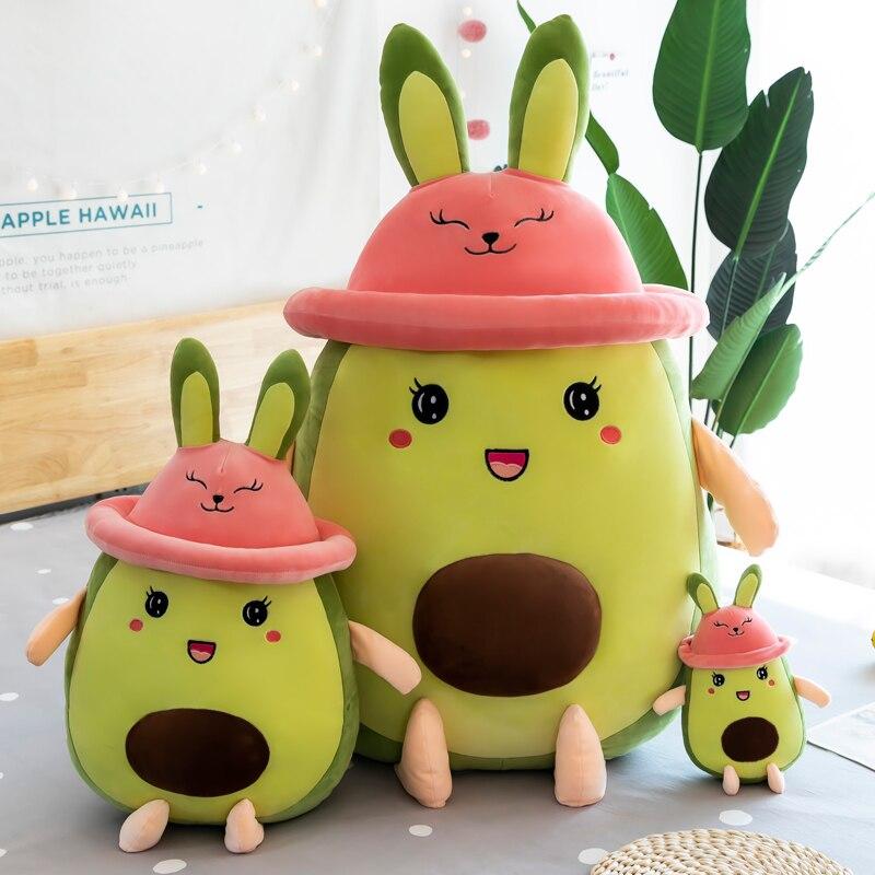 26 80 см Мультяшные милые плюшевые подушки авокадо, диванные подушки, мягкие игрушки с милыми фруктами, мягкие куклы для детей, подарок на день рождения для девочек