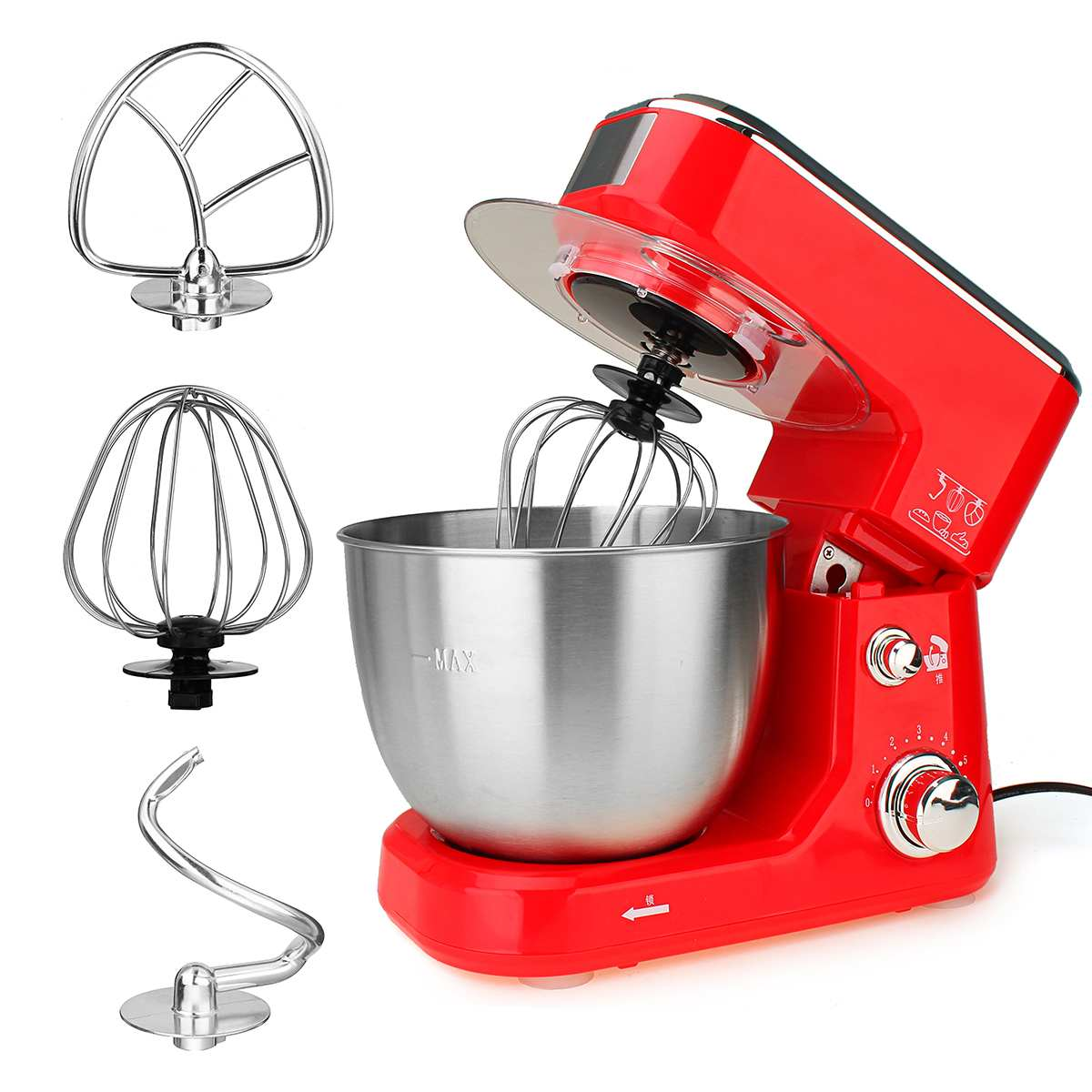 Tabletop 4L Bowl-Lift Mixer Kitchen Food Milkshake/Cake Kneading Machine Blenders Eggs Beater Home Smoothie Maker Tools
