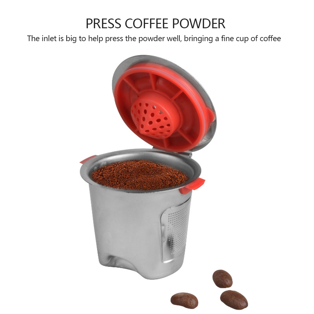 1pc Stainless Steel Coffee Capsule Reusable Refillable Coffee Cup For K Cup Baskets K-Cup Pod Safe Durable  High Quality