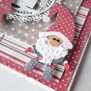 Набор Деда Мороза металлические Вырубные штампы Трафаретный Скрапбукинг тиснение 2020 новые рождественские ремесленные штампы