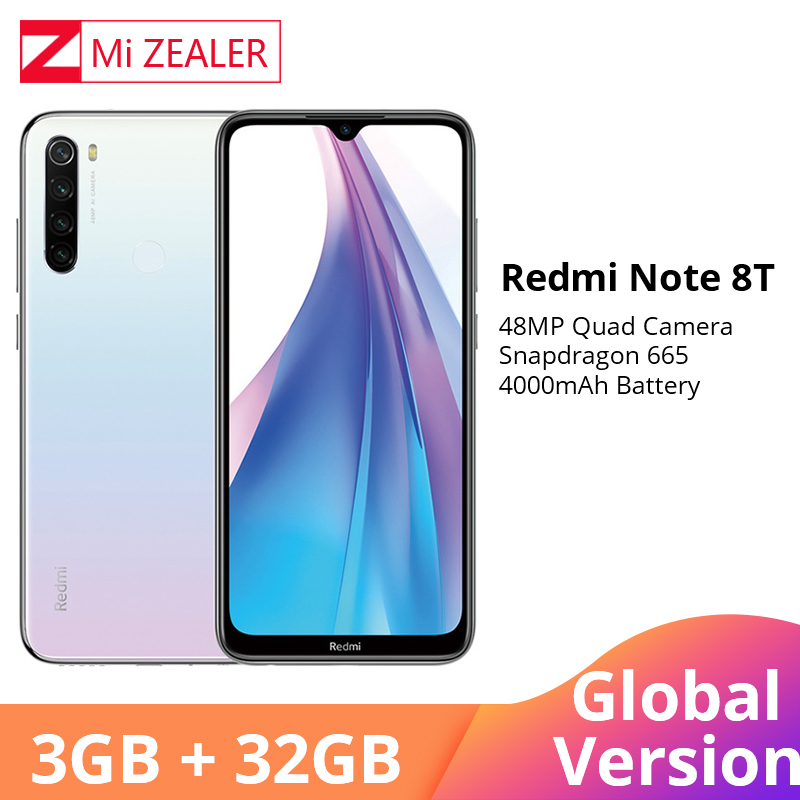 Global Version Xiaomi Redmi Note 8T NFC 3GB RAM 32GB ROM Octa Core Smartphone Snapdragon 665 48MP 6.3