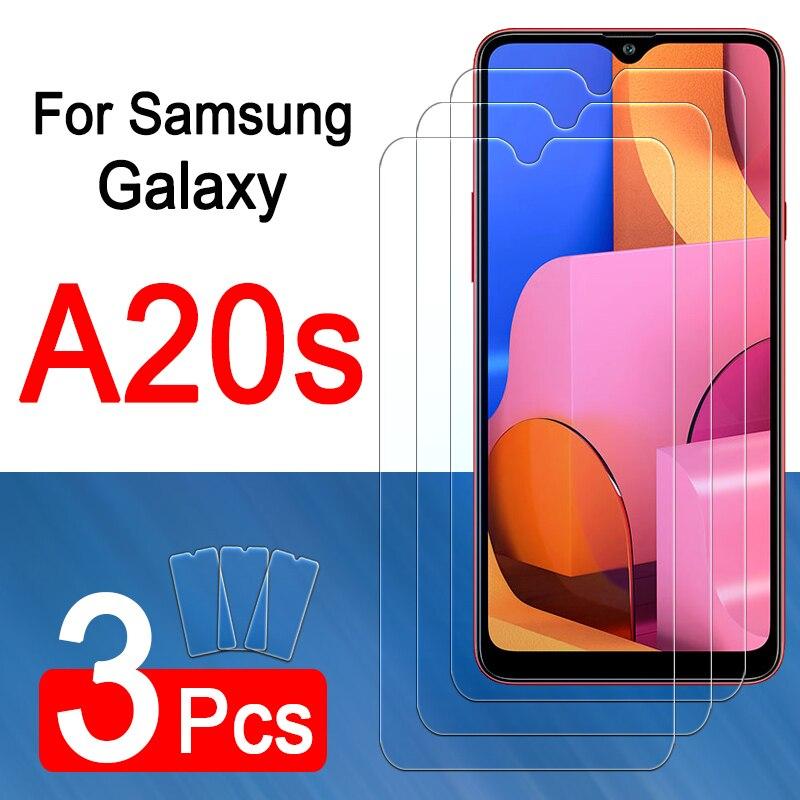 Proteção de vidro para samsung galaxy a20s protetor de tela em um 20 s temperado vidro a 20 s 20a folha blindada filme screenprotector