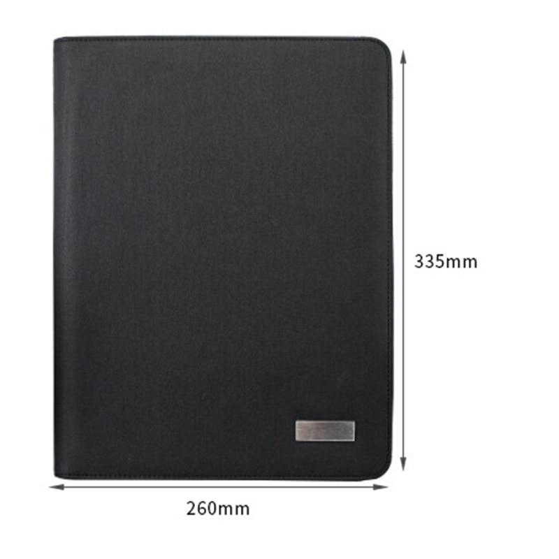 A4 taille voyage cahier Composition livre Business Manager sac dossier avec chargeur d'alimentation sans fil support de sac Mobile - 2