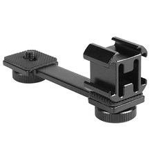 For Canon Nikon Sony Camera Photography Hot Shoe Adjustable Mounting Monitor Flash Adapter Microphone Stand(China)