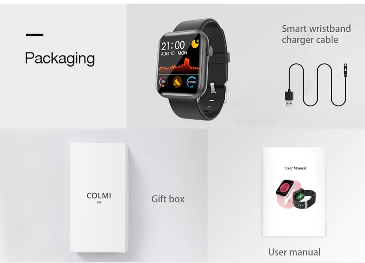 COLMI P9 Unisex Smart Watch IP67 Waterproof for iOS Android Phones 14