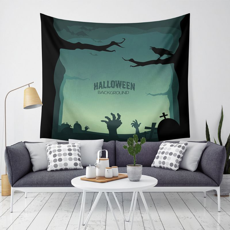 Halloween Tapestry Art Painting Decoration For Bedding Living Room Bedroom Dorm Decor 59× 51 Inches   AXYF