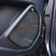 Para ford explorer 2020 2021 porta do carro de aço inoxidável alto-falante capa guarnição adesivo telhado do carro alto-falante guarnição estilo automóvel acessórios
