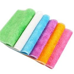 Высокоэффективная антисмазка, цветное блюдо, ткань, бамбуковое волокно, моющее полотенце, волшебные тряпки для мытья кухни