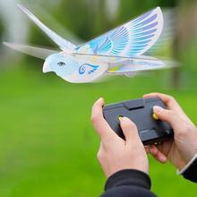 Latające ptaki elektroniczne Mini RC zabawki drony helikopter 235x275x70mm 360 stopni latające RC zabawka ptak 2 4 GHz pilot e-bird cheap CN (pochodzenie) 8-11 lat Ready-to-go 3 7V Electric