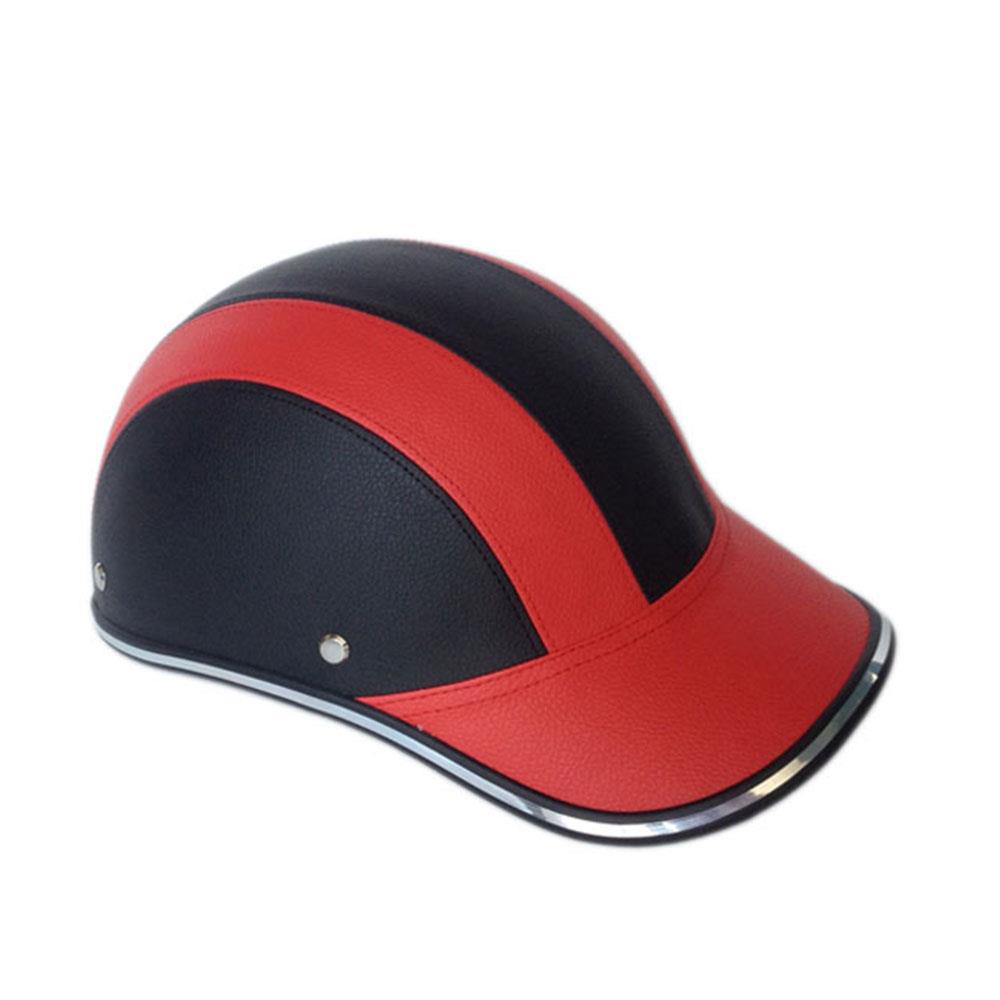 Motorcycle Half Open Face Helmet Baseball Cap Outdoor ABS+PU Safety Cycling Protective