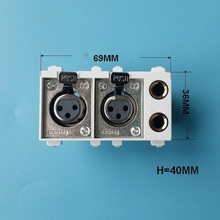 Model XLR Ground-Plug Microphone Dual-6.35 with Carnom Multimedia-Module 128 Can-Be-Equipped