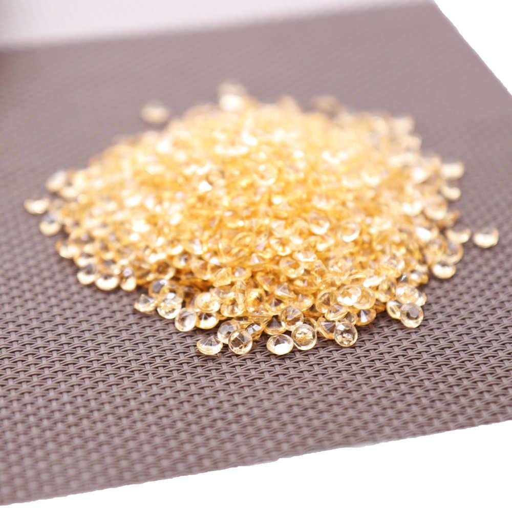 1000PS 4,2 мм акриловые стразы конфетти для создания свадебного украшения конфетти в виде алмазов в форме Куба, Разбрасыватели конфетти для стола прозрачный украшение из кристаллов Вечерние