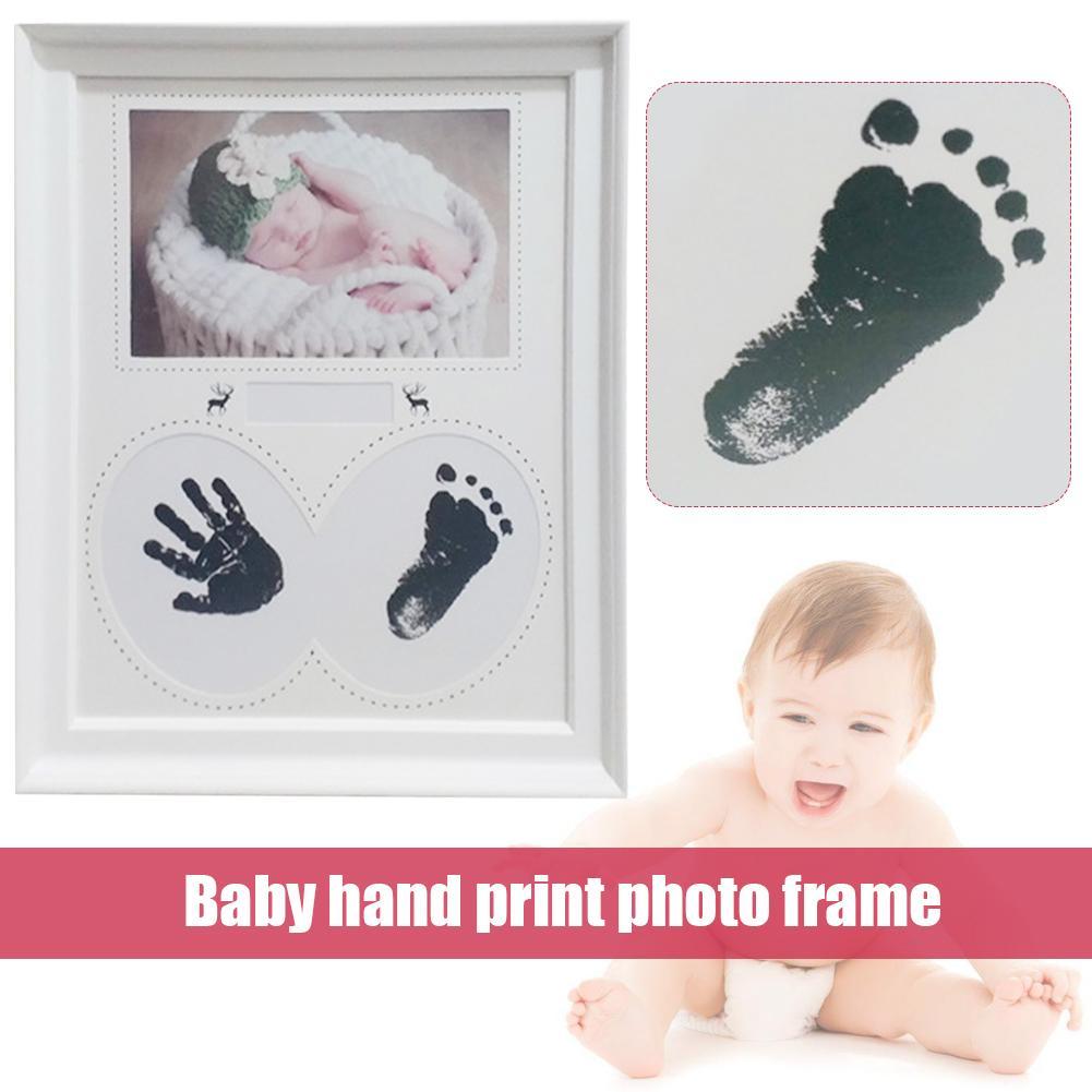 Baby Hand Print Photo Frame Handprint Footprint Photo Frame Kit For Newborn Boys Girls