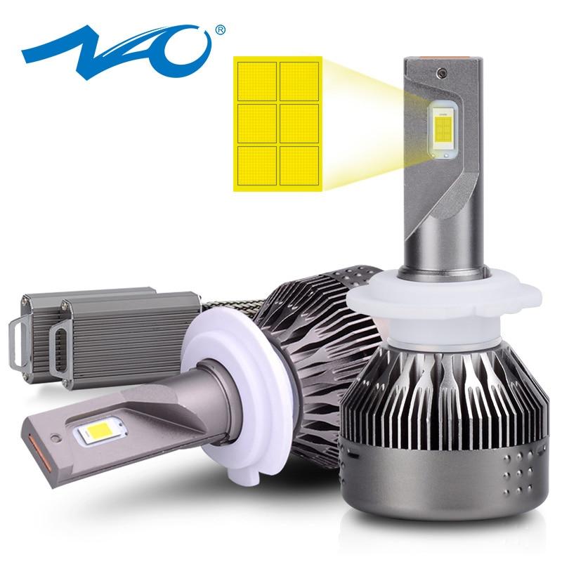 NAO H1 HB4 светодиодный фонарь HB3 противотуманная фара для автомобиля H4 H8 H9 H7 9005 H11 9006 для E60 E90 F30 E36 авто лампа 72 Вт 9000LM Авто фара
