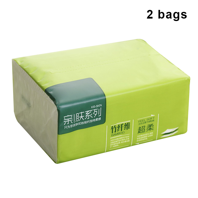 2 Packs Strong Soft 4-Ply Toilet Paper Bath Tissue Bamboo Skin-friendly Paper Towel For Home New KG66