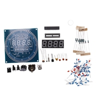 Rotating DS1302 Digital LED Display Module Alarm Electronic Digital Clock LED Temperature Display DIY Kit Learning Board 5V New|System Accessories| |  -