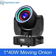 Sahne ışık hareketli kafa aydınlatma 1*40W RGBW 4in1 + 76*0.2W SMD RGB hareketli soğan disko olay Bar parti dekorasyon