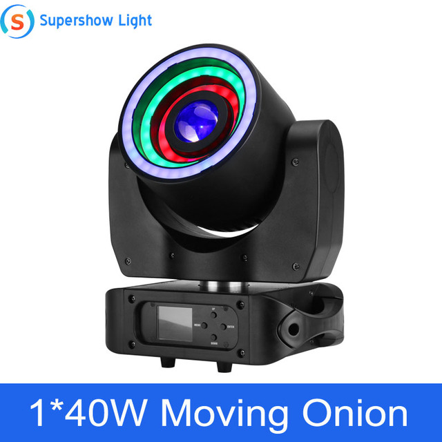 Stage Light Moving Head Lighting 1*40W RGBW 4in1 +76*0.2W SMD RGB Moving Onion for Disco Event Bar Party Decoration