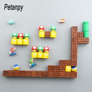 Image 1 - 39 Chiếc 3D Trang Trí Lập Thể Super Mario Bros Nam Châm Gắn Tủ Lạnh Thông Điệp Miếng Dán Người Lớn Người Đàn Ông Cô Gái Bé Trai Trẻ Em Đồ Chơi Quà Tặng Sinh Nhật