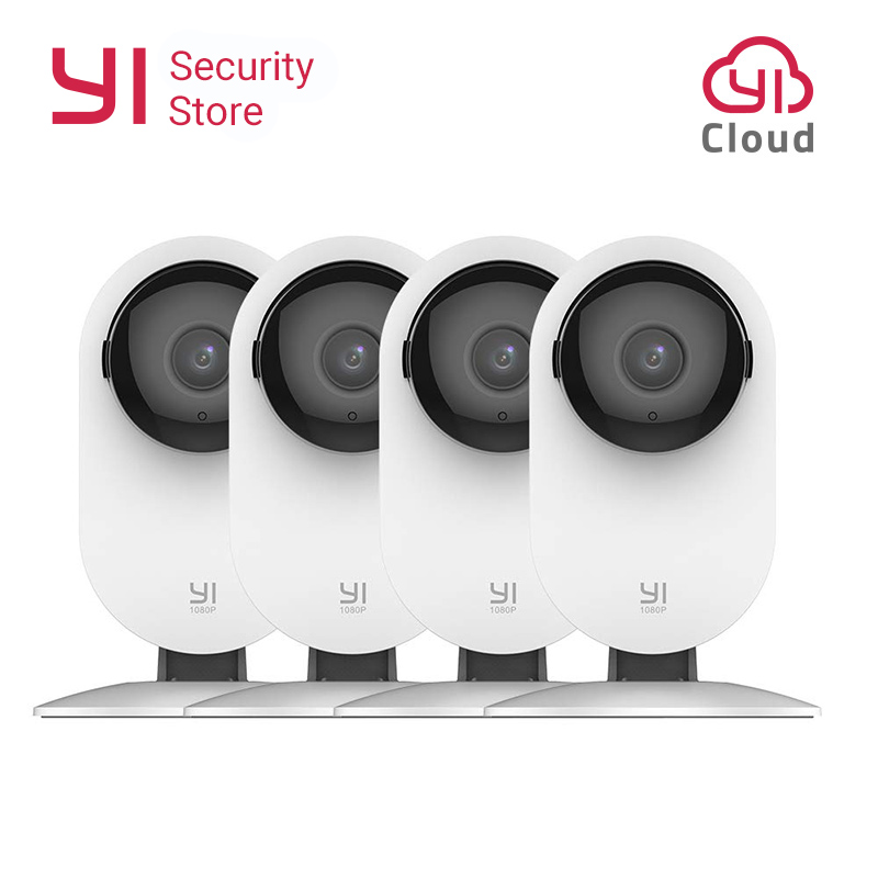 YI Home Camera 1080P 4PCS Security Surveillance System Night Vision Wireless IP Bayby Monitor WIFI Cam CCTV YI Cloud Camera Owl