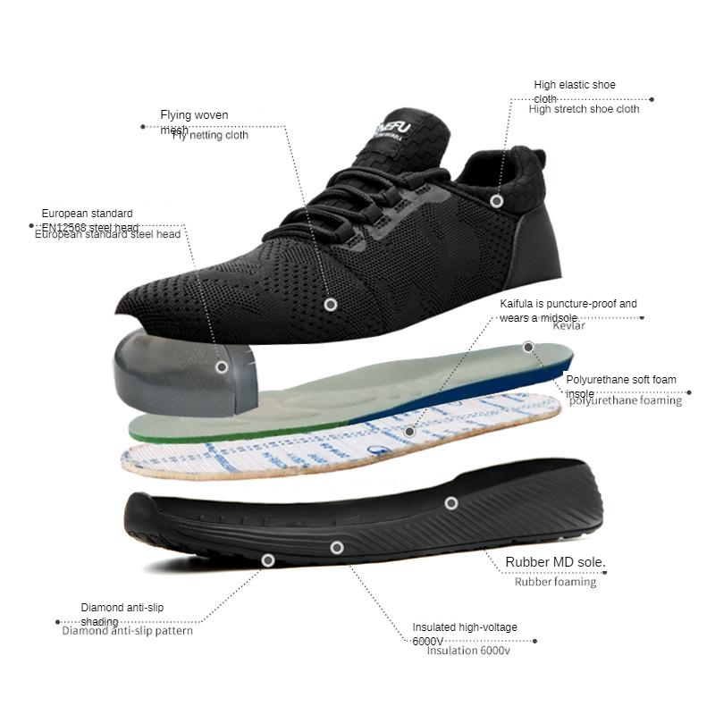 Safety Shoes Lightweight Breathable Anti-smashing And Anti-penetration Insulation Work Safety Shoes