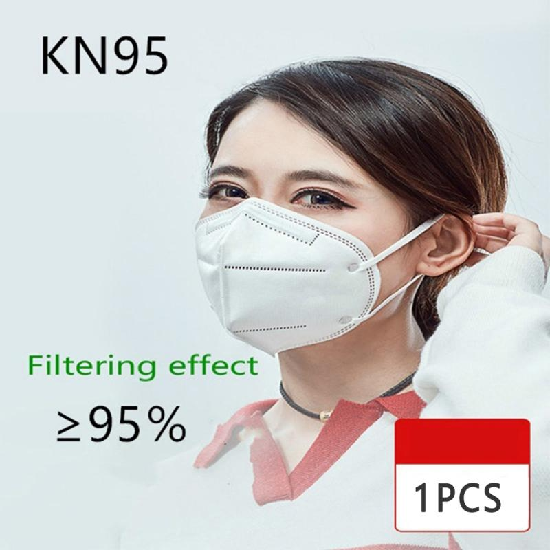 1pc/pack Antiviral PM2.5 Mask KN95 Face Mask 95% Filtration Non-woven Fabric Protective Masks Dust Particles Pollution Filter