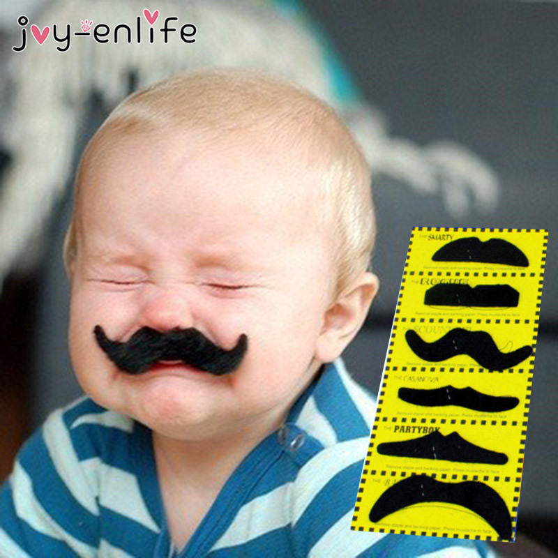 Joy-Enlife Funny Fake Mustache Pirate Party Halloween Cosplay Moustache Fake Beard For Kids Adult Black Photobooth Props