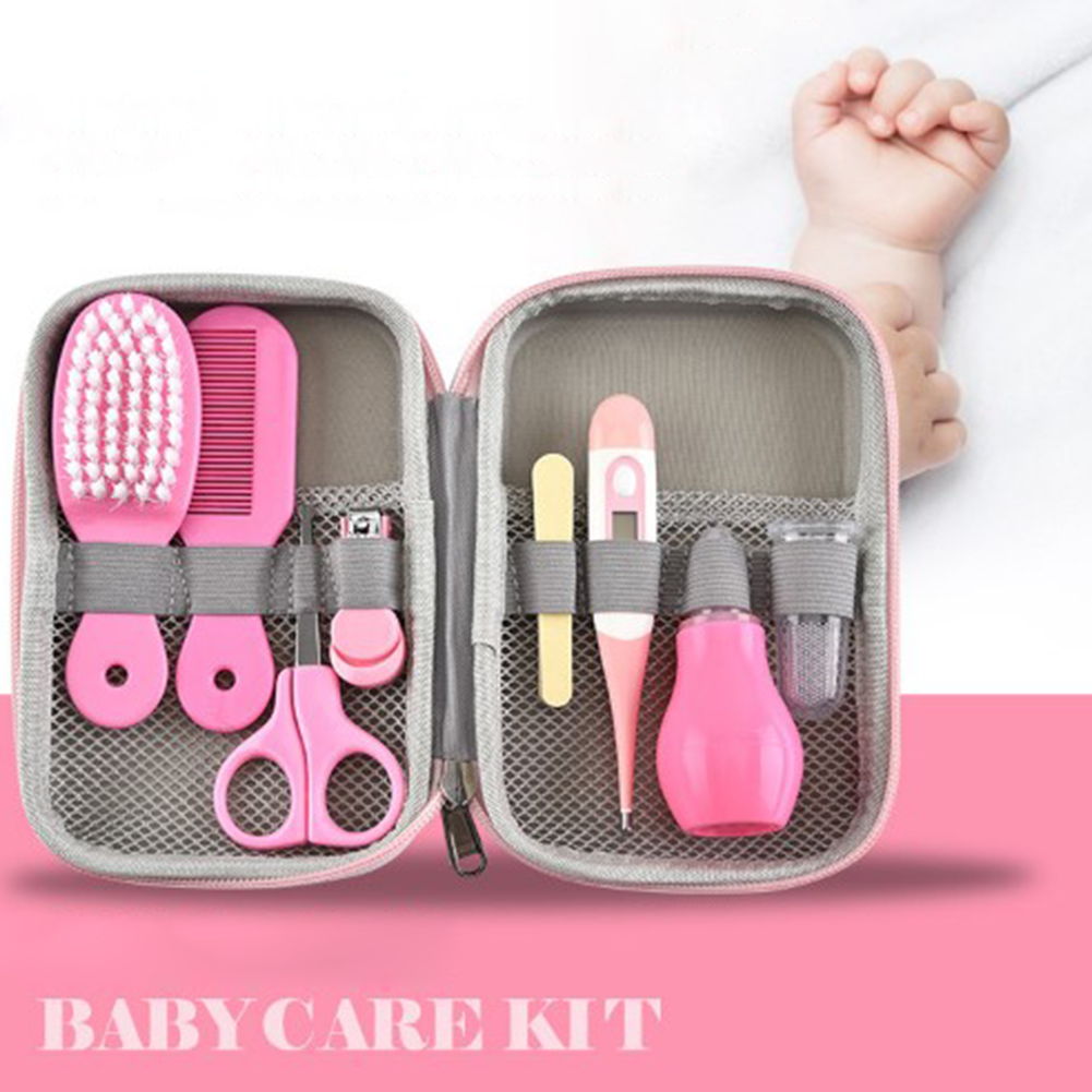 <font><b>Baby</b></font> <font><b>Health</b></font> <font><b>Care</b></font> Kit Nose Cleaner Aspirator Portable Newborn <font><b>Baby</b></font> Grooming Kit Nail Clipper Scissors Hair Brush Comb Safety <font><b>Care</b></font> image