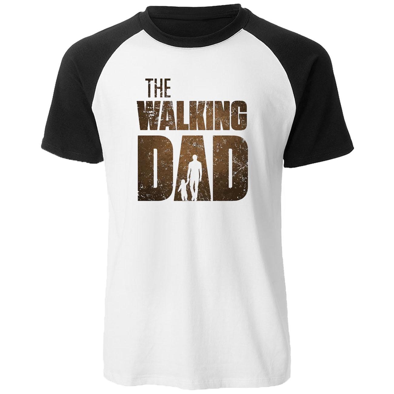 2019 Summer High Quality Cotton Mens Short Sleeve Tshirt Negan Rick The Walking Dad T-Shirt Printed Hip Hop Raglan Men T Shirts