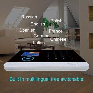 Image 4 - WOFEA sistema de alarma inalámbrico WIFI/GSM RFID, sistema de seguridad antirrobo con pantalla LCD táctil, compatible con Smart Life, Tuya, Alexa y Google Home