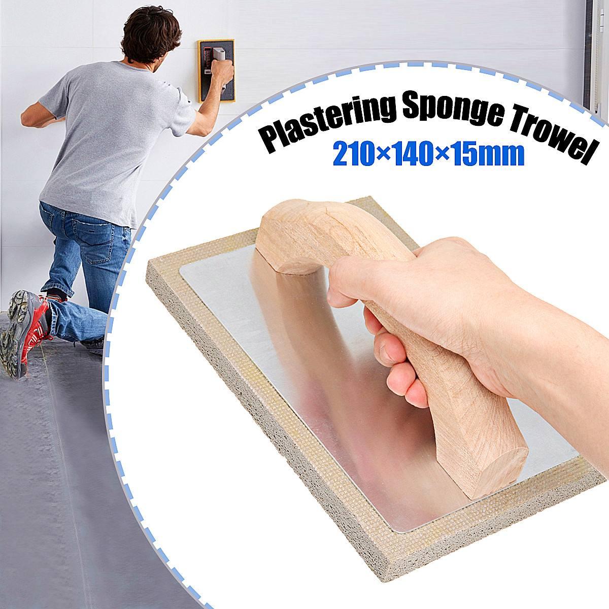210x140x15mm Plaster Plastering Sponge Trowel Ergonomic Handle Design For Wall Plastering, Professional Caulking Tools