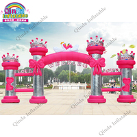 Free air blower inflatable welcome archy gate,8m inflatable wedding arch for party event